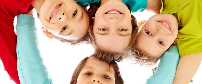 Kids group hug