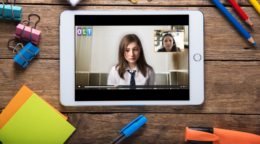 girls and autism webinar on tablet screen