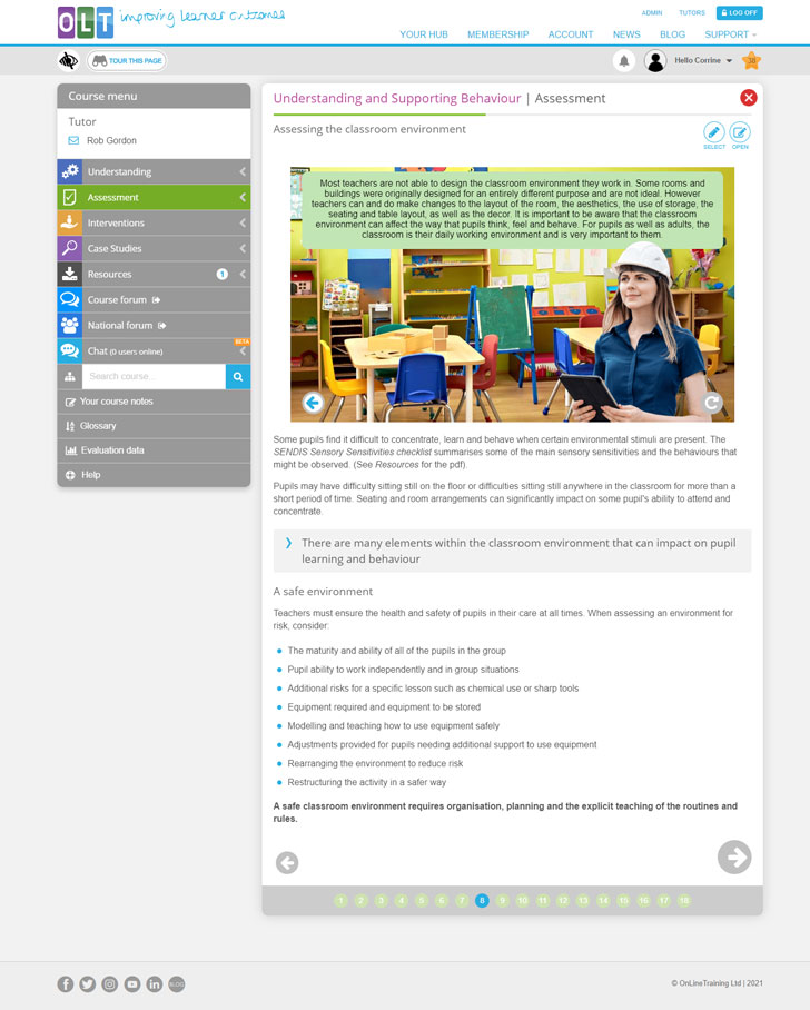 Screenshot from Assessment page 8