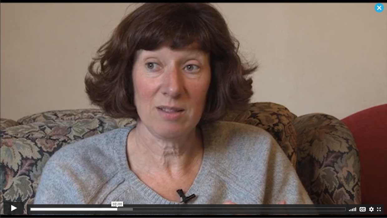Still from video of a parent talking about her daughter's challenging behaviour